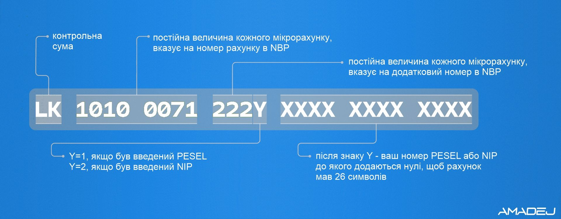 Структура номера податкового рахунку